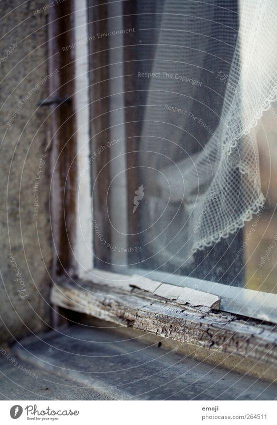 Fetisch alt Haus Fenster Wand Mauer Fensterscheibe Gardine Fensterbrett Fensterrahmen Fenstersims