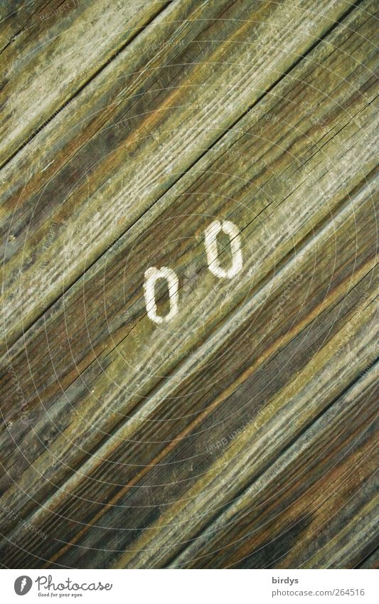 00 Tür Holz Zeichen Schriftzeichen Ziffern & Zahlen Hinweisschild Warnschild ästhetisch Stadt 2 Maserung diagonal versetzt Holzbrett Detailaufnahme Oval Linie