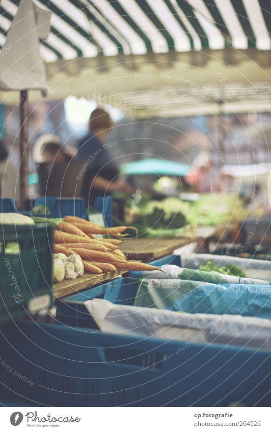 Möhren Lebensmittel Gemüse Markt verkaufen Buden u. Stände