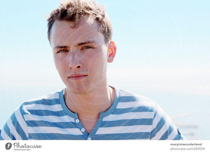 hello lover. Mensch Jugendliche blau Himmel (Jenseits) Sommer Sonne Junger Mann Ferne 18-30 Jahre Erwachsene Freiheit Stimmung maskulin Abenteuer Sehnsucht