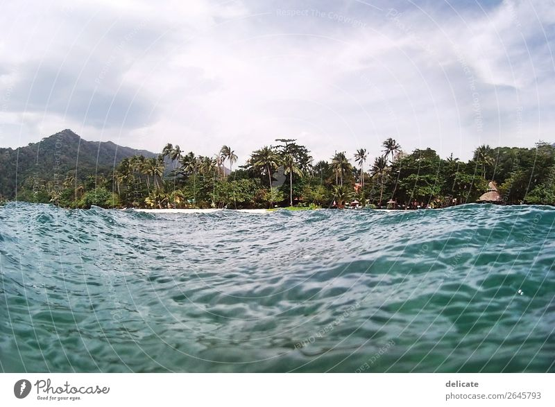 Koh Rong Himmel Ferien & Urlaub & Reisen Sommer Meer Wolken Ferne Strand Küste Tourismus Freiheit Schwimmen & Baden Ausflug Wellen Insel Abenteuer entdecken