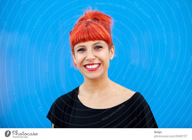 Porträt der rothaarigen Frau Lifestyle Stil Freude Glück schön Haare & Frisuren Gesicht Wellness Sommer Mensch Erwachsene Mode Zopf Lächeln Coolness Erotik
