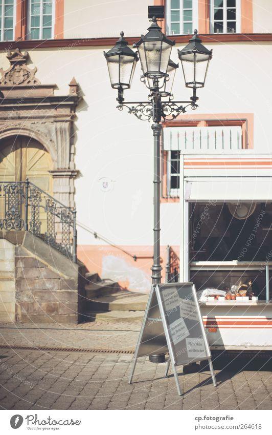 Stand Sonne Fenster Tür Treppe Straßenbeleuchtung Markt Werbebranche Buden u. Stände Fußgängerzone werben