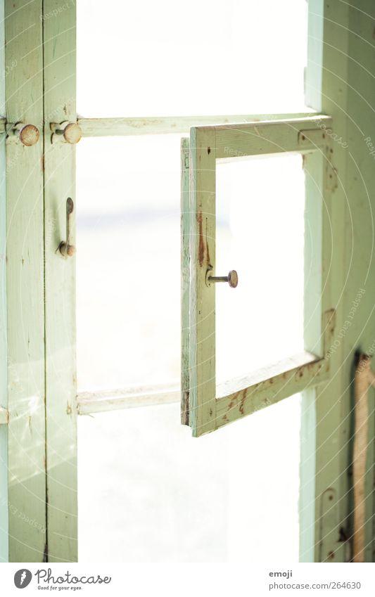 green light Schönes Wetter Haus Traumhaus Fenster Fensterscheibe Fensterrahmen alt hell grün Farbfoto Außenaufnahme Innenaufnahme Nahaufnahme Detailaufnahme