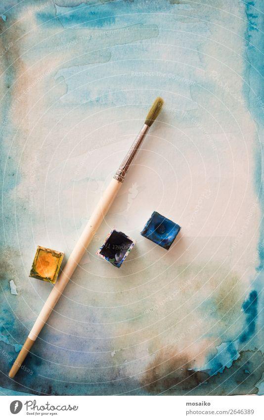 Pinsel und Aquarell Stil Design Freizeit & Hobby Kindererziehung Bildung Kindergarten Schule Kunst Maler Kunstwerk ästhetisch Idee Inspiration Kreativität