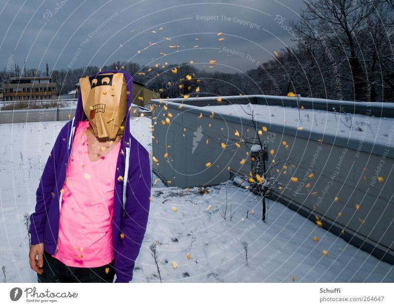 Flake invaders! Mensch rosa maskulin violett trendy Tüte Cornflakes