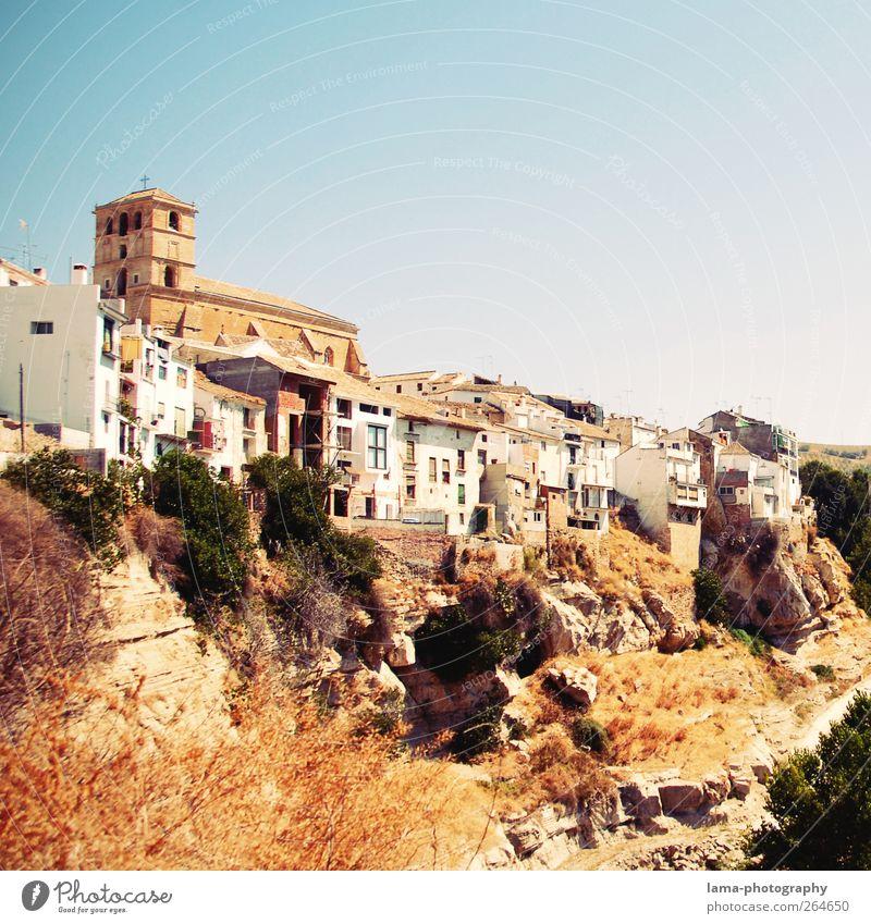 Alhama de Granada [XXXIV] Natur Sommer Haus Landschaft Felsen Kirche gefährlich retro Bauwerk Dorf Spanien Am Rand Schlucht Altstadt mediterran Kleinstadt