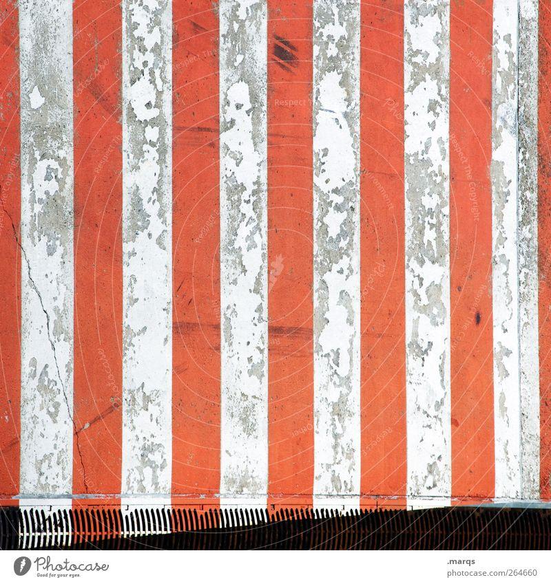 Zebrastreifen Verkehr Verkehrswege Straßenverkehr Wege & Pfade Schilder & Markierungen Verkehrszeichen Linie Streifen alt außergewöhnlich Stadt rot weiß
