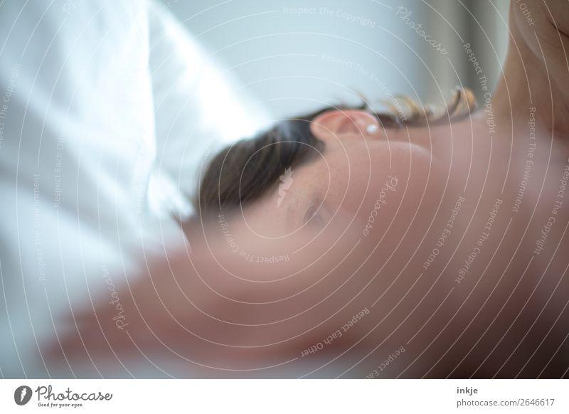 Trash | morgens 2 Lifestyle harmonisch Wohlgefühl Sinnesorgane Erholung ruhig Freizeit & Hobby Bett Frau Erwachsene Leben Kopf Haare & Frisuren Gesicht 1 Mensch