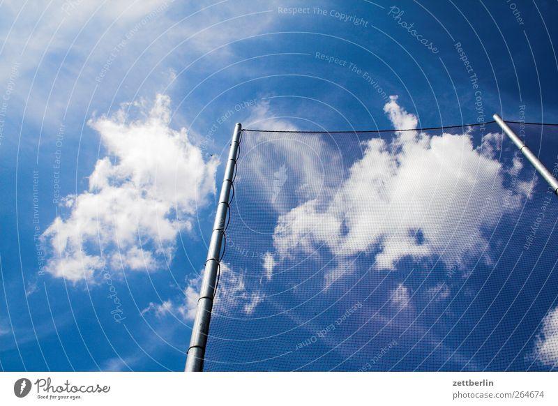 Netz Himmel Natur Sommer Wolken Umwelt Metall Wetter Klima gut Schönes Wetter Mast Klimawandel schlechtes Wetter Fangnetz Maschendraht