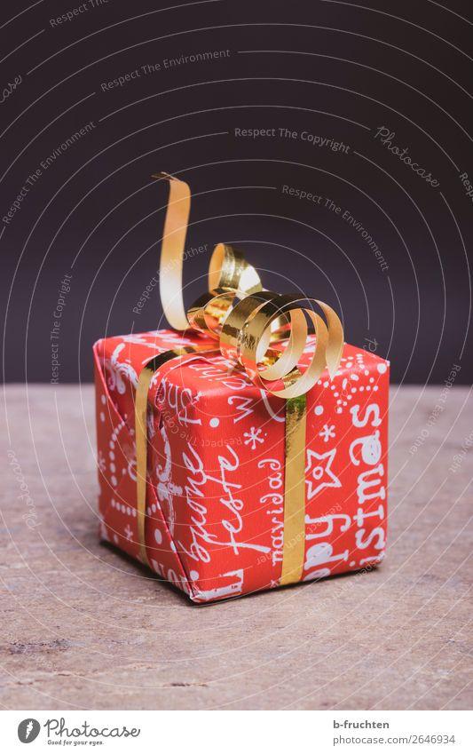 Weihnachtsgeschenk kaufen Freude sparen Weihnachten & Advent Verpackung Dekoration & Verzierung Schleife wählen gold rot Solidarität Hilfsbereitschaft dankbar