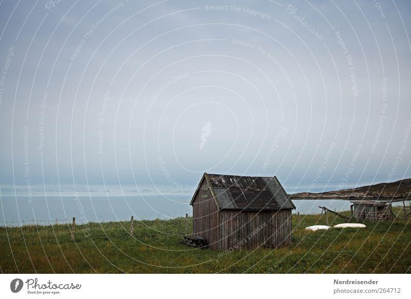 Melancholie Natur Stadt Meer Einsamkeit Wolken ruhig Ferne Landschaft dunkel Wiese Freiheit Küste Horizont Klima trist Urelemente