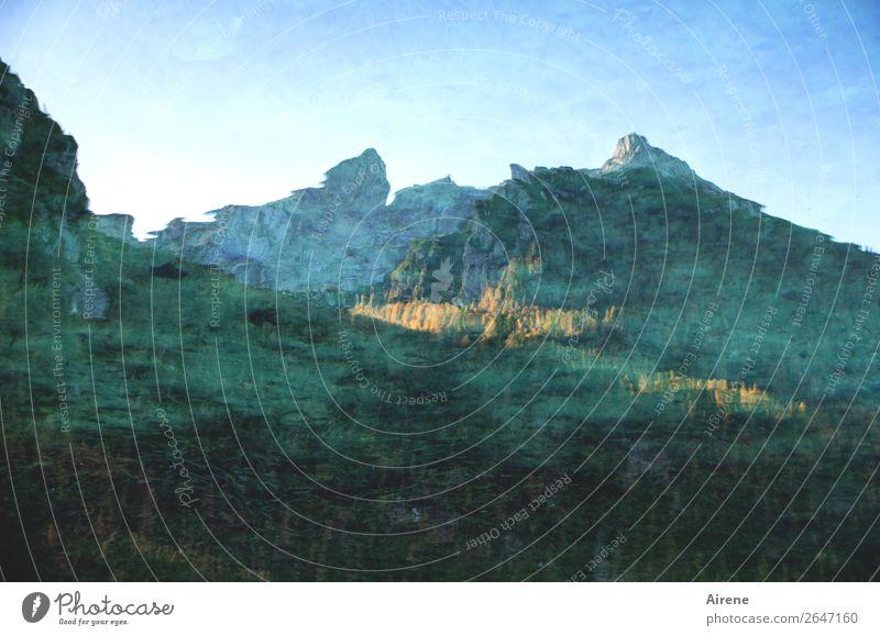 Gletscherwasser Alpen Berge u. Gebirge Berchtesgadener Alpen Gipfel See Gebirgssee Wasser hell kalt blau grün Natur Nostalgie rein schön schmelzen