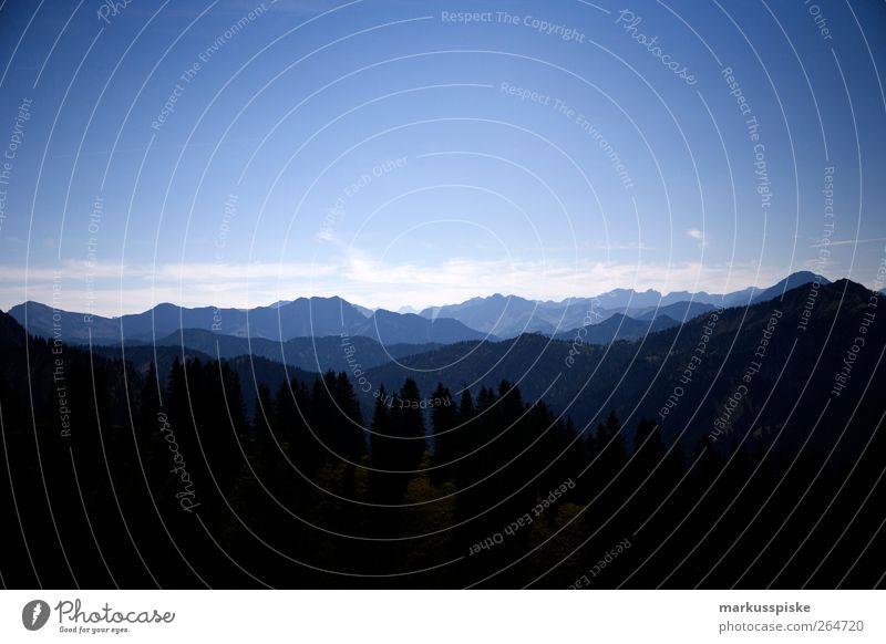 Tegelberg Ausblick Ferien & Urlaub & Reisen Tourismus Ausflug Ferne Freiheit Sightseeing Expedition Sommer Sommerurlaub Berge u. Gebirge Klettern Bergsteigen