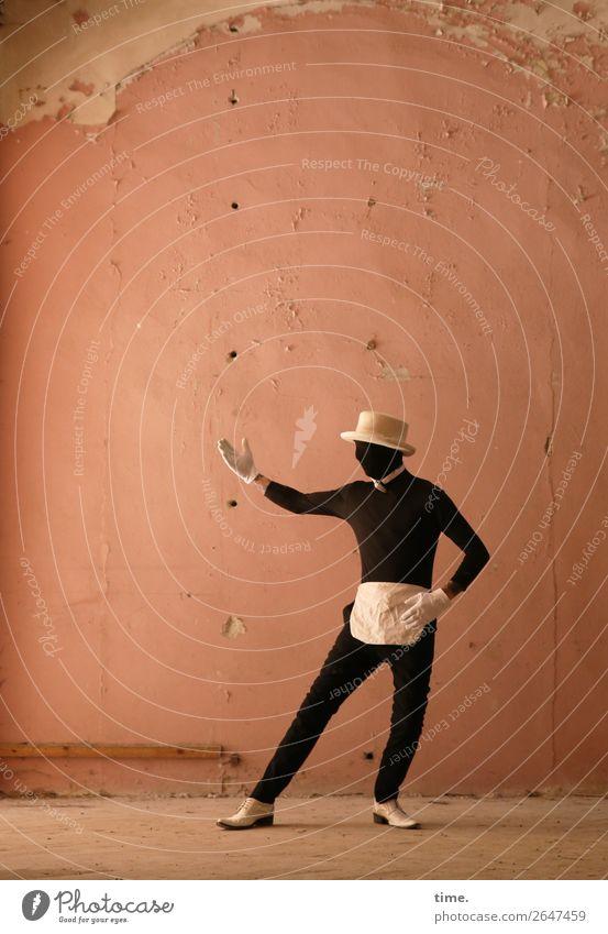 Acting (XI) Mensch Mann Stadt Erwachsene Leben Wand Bewegung Mauer maskulin Schuhe stehen Kreativität Lebensfreude Tanzen historisch festhalten
