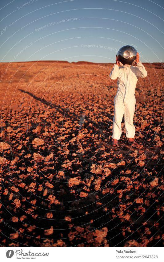 #AS# Going Home Kunst Kunstwerk Kitsch Astronaut Astronomie Astrologie Weltall Mars Marslandschaft Marsianer Außerirdischer außerirdisch karg Helm Planet