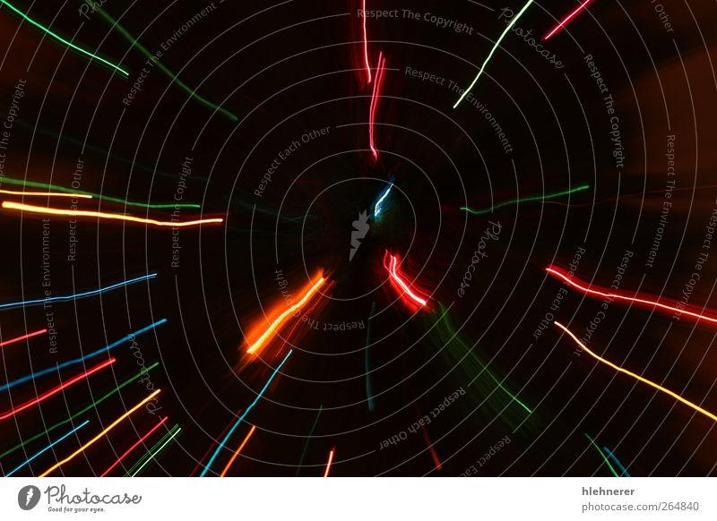 Abstrakte Bewegungslichter Design Freude Dekoration & Verzierung Feste & Feiern Wärme glänzend hell neu Geschwindigkeit blau gelb gold grün rot Farbe Wunsch