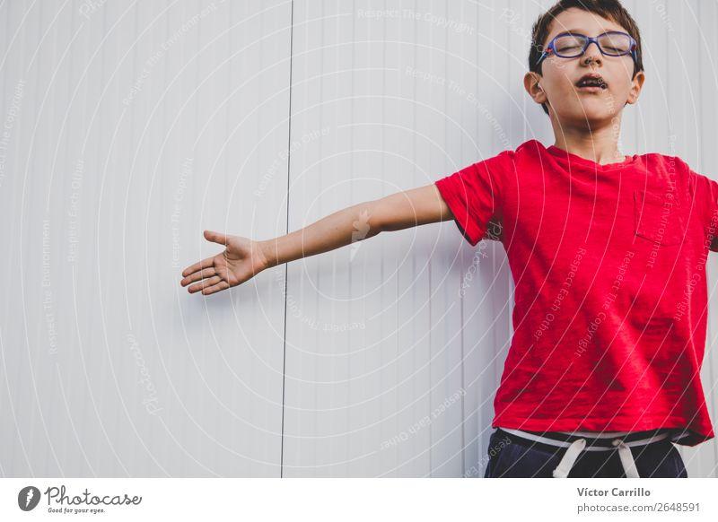 Kind Mensch Himmel Natur Lifestyle Erwachsene Liebe Familie & Verwandtschaft Glück Stil Junge klein Spielen träumen Kindheit authentisch