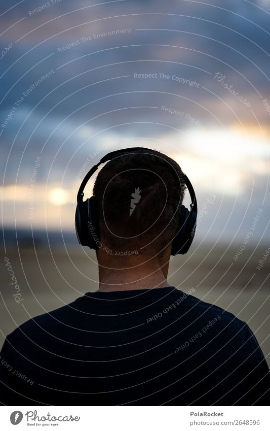 #AS# Sound of the Desert Kopf 1 Mensch ästhetisch Klang Musik Musik hören Kopfhörer Erholung ruhig Idylle friedlich Farbfoto Gedeckte Farben Außenaufnahme