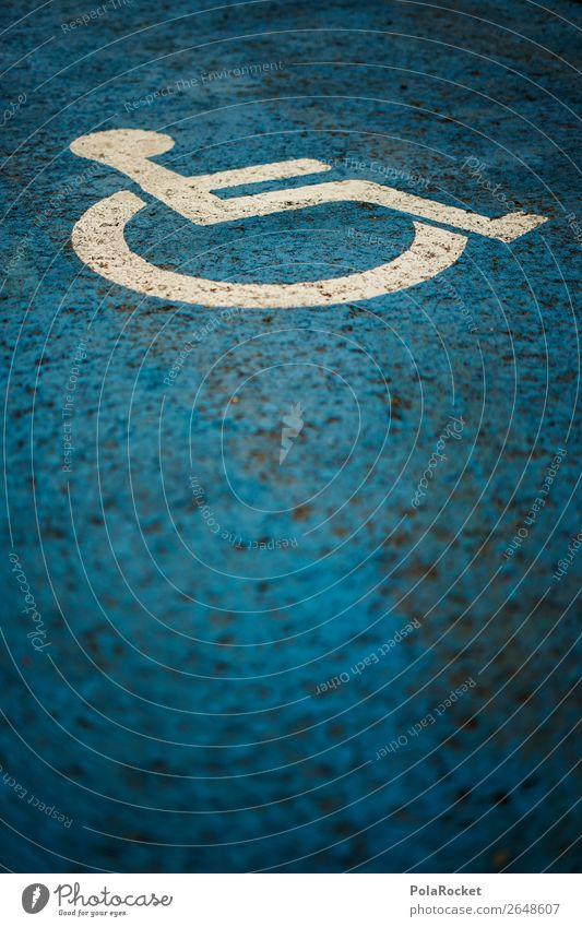 #AS# Handicap Mensch Fairness Rollstuhl Behinderte Behindertengerecht blau weiß Gerechtigkeit Fair Play Parkplatzsuche Asphalt Mitgefühl Gleichstellung gleich