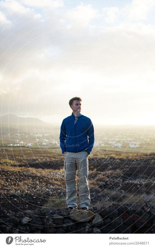 #AS# vision 1 Mensch ästhetisch Erscheinung Mann Außenaufnahme Fuerteventura Bekleidung wandern Landschaft Abenteuer Berge u. Gebirge Abenteurer steinig