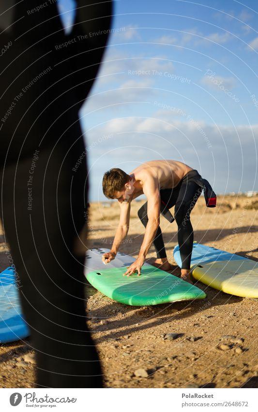 #AS# Vorbereitung Jugendliche Mann Sport Kunst maskulin Wachstum ästhetisch Jugendkultur Surfen Wassersport Surfer Surfbrett Fuerteventura Neoprenanzug