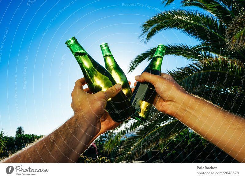 #AS# Cheers! Sommer Freude Kunst Party ästhetisch trinken Partygast Bier Flasche Alkohol Alkoholisiert Zuprosten Biergarten Bierflasche Partystimmung Bierzelt