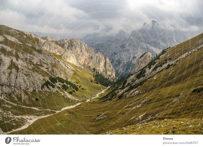 Pragser Hochalm Italien Südtirol Alpen Berge u. Gebirge Felsen Stein Gipfel Landschaft Dolomiten wandern Bergsteigen Klettern Natur unberührt Alm Wiese hoch