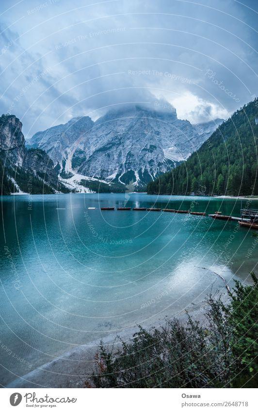 Prafser Wildsee - Lago di braies Umwelt Natur Landschaft Pflanze Urelemente Erde Luft Wasser Himmel Wolken Sommer Wetter Alpen Berge u. Gebirge Südtirol See