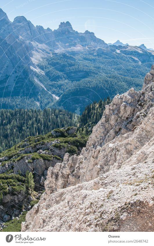 Südtirol Italien Alpen Berge u. Gebirge Felsen Stein Gipfel Landschaft Dolomiten wandern Bergsteigen Klettern Natur unberührt Alm Wiese Hochalpen Himmel Sommer