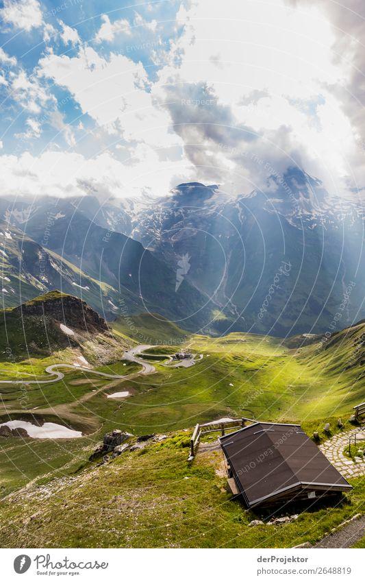 Aussicht auf die Großglockner Alpenstraße Ferien & Urlaub & Reisen Tourismus Ausflug Abenteuer Ferne Freiheit Sightseeing Expedition Berge u. Gebirge wandern
