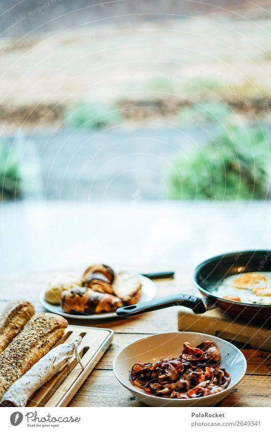 #AS# breakfast is the best Lifestyle Glück Frühstück Croissant Baguette Pfanne Ei Speck ergiebig Frühstückstisch Frühstückspause Überraschung Freude genießen