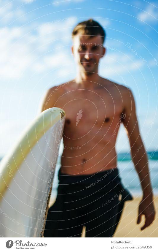 #AS# time for some waves 1 Mensch ästhetisch Surfen Surfer Surfbrett Surfschule Extremsport Wassersport Meer Küste Oberkörper Jugendliche Mann maskulin