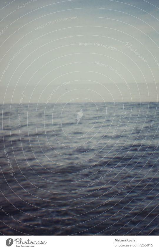 no line on the horizon. Umwelt Natur Landschaft Wasser Himmel Wolken Sommer Winter Klima Klimawandel Wetter Schönes Wetter Wellen Küste Seeufer Strand