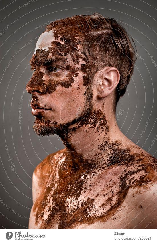 Verfall II Kaffee Mensch maskulin Junger Mann Jugendliche 18-30 Jahre Erwachsene Skulptur kurzhaarig alt Traurigkeit dehydrieren dreckig dunkel stark Ehre Kraft