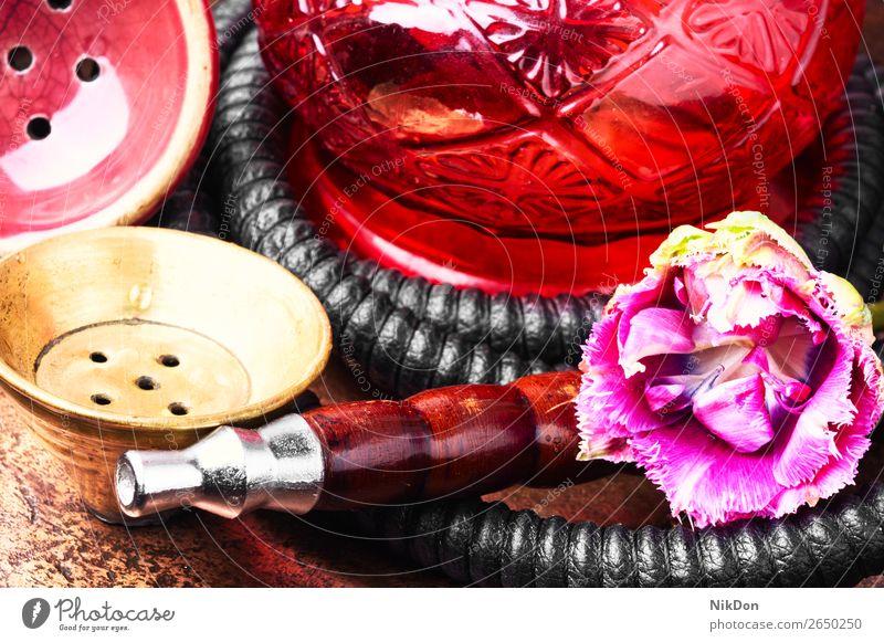 Wasserpfeife Wasserpfeifenrauch Rauch Tabak shisha Minze Röhren Osten arabisch hooka Nikotin Mundstück Krause Minze kalianisch Orientalisch nargile exotisch