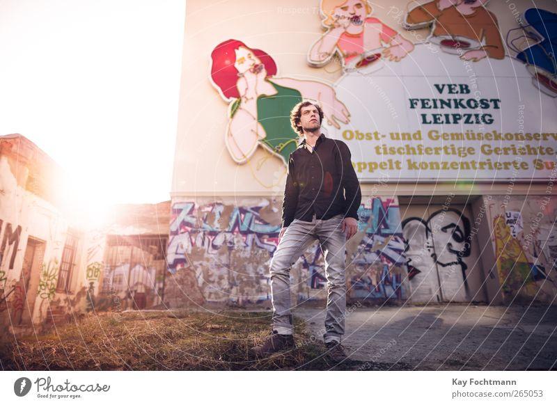 leipzig Mensch Jugendliche Stadt Erwachsene Leben Wand Graffiti Freiheit Gebäude Mauer Stil Deutschland Fassade maskulin Ausflug 18-30 Jahre