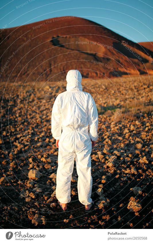#AS# One Step Kunst Kunstwerk Gemälde ästhetisch Mars Marslandschaft Marsianer außerirdisch Außerirdischer Bekleidung Kostüm Astronaut Raumfahrt Pionier