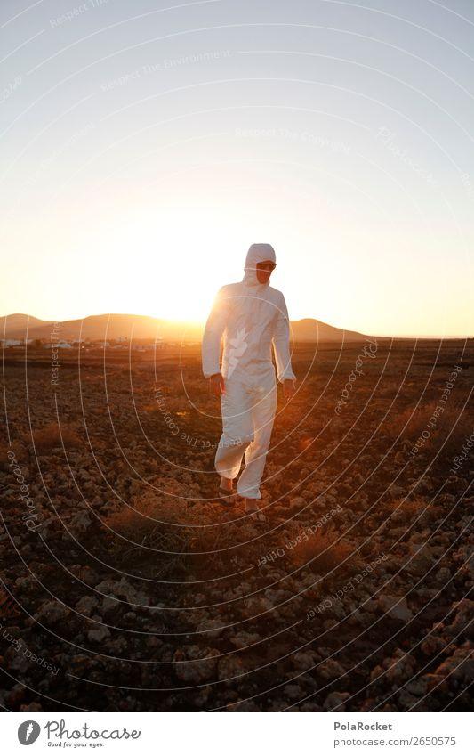 #AS# WALKiNG Sonne Wärme Kunst außergewöhnlich ästhetisch laufen Mond Kunstwerk verkleiden steinig Außerirdischer außerirdisch Astronaut Mars Marslandschaft