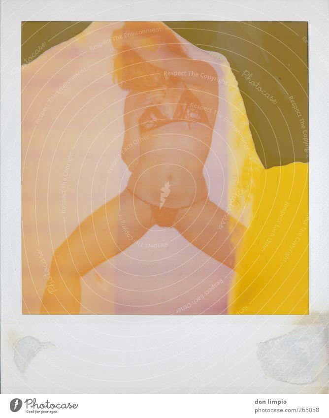 get shaky Tanzen feminin Junge Frau Jugendliche Körper 1 Mensch Tänzer Show Erotik retro dünn schön Wärme wild mehrfarbig Begierde Lust Farbfoto Polaroid