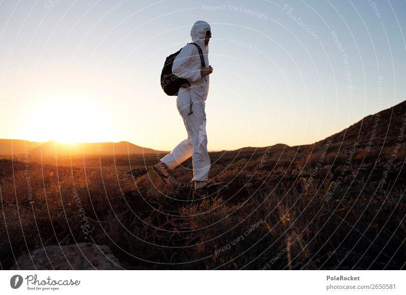#AS# Ich mach los Mensch maskulin Junger Mann Jugendliche authentisch Kunst ästhetisch Mars Marslandschaft Marsianer Kostüm Karnevalskostüm Astronaut Astronomie