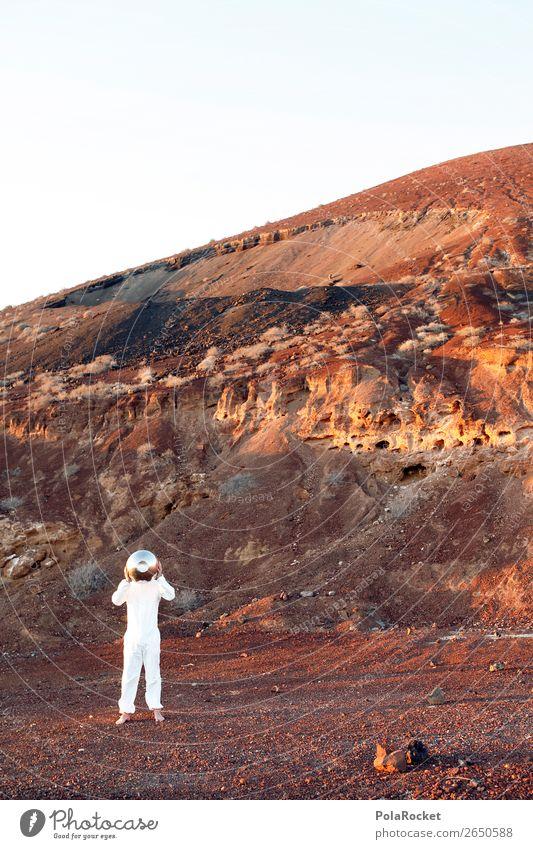#AS# Komm Klar! Lifestyle Stil Design exotisch Freude Stein Sand ästhetisch Mars Marslandschaft Marsianer Astronaut Raumfahrthelm Pionier entdecken Zukunft