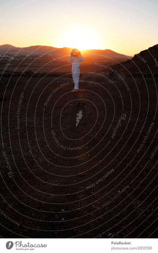 #AS# Heller Kopf Kunst ästhetisch Astronaut Raumfahrthelm Weltall Außerirdischer Außenaufnahme außergewöhnlich außerirdisch außerorts Mars Marslandschaft