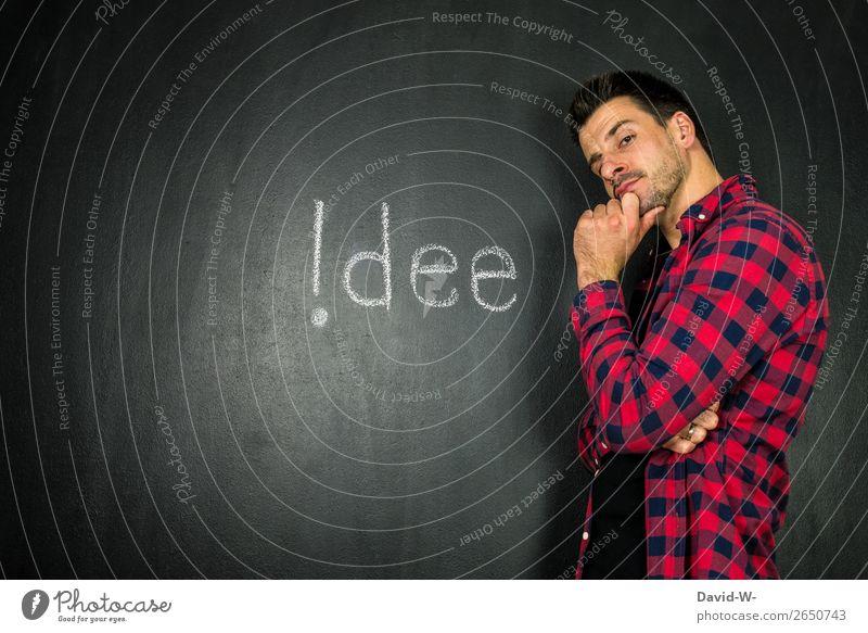 !dee Mensch Jugendliche Mann Junger Mann 18-30 Jahre Lifestyle Erwachsene Leben Business Schule Denken maskulin Schriftzeichen Erfolg lernen Idee