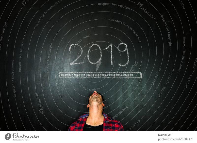 bald beginnt das neue Jahr elegant Design Feste & Feiern Silvester u. Neujahr Schule Tafel Studium Arbeit & Erwerbstätigkeit Wirtschaft Handel Business