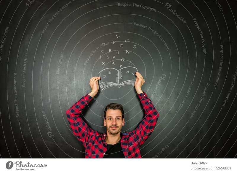 Autor Design Freude Freizeit & Hobby Bildung Erwachsenenbildung Schule lernen Studium Student Erfolg Mensch maskulin Junger Mann Jugendliche Leben 1 Kunst