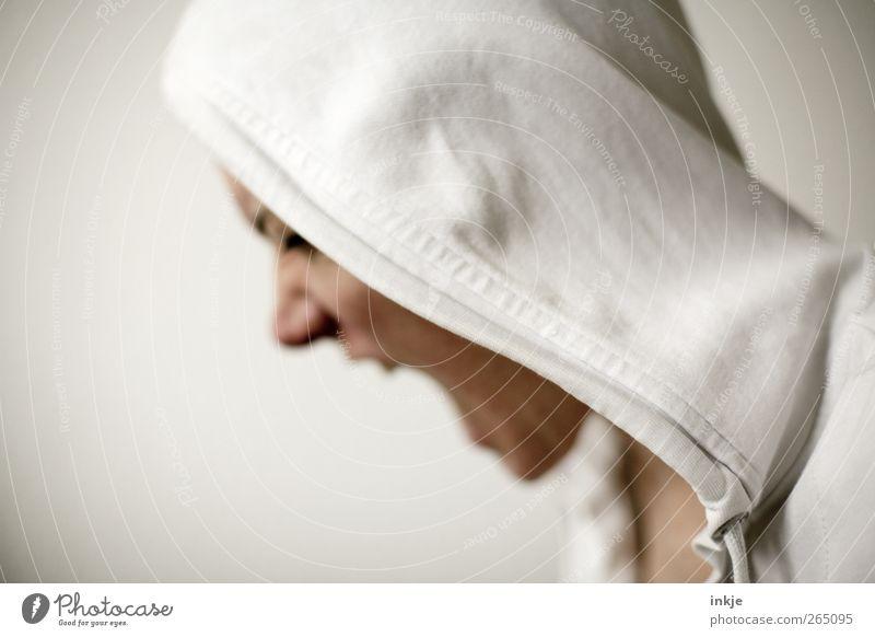 wenn ich mit Euch reden könnte Mensch weiß Gesicht Leben Gefühle Stimmung bedrohlich Wut schreien Konflikt & Streit Verzweiflung Aggression Ärger Kapuze