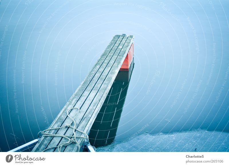 Och. Var? Natur blau Wasser rot Meer Winter Umwelt kalt Schnee Holz Glas Schwimmen & Baden Nebel Klima Seil Kunststoff