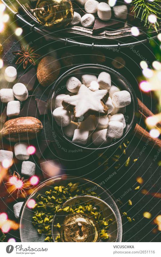Zimtstern mit Marshmallow und Nüssen Lebensmittel Süßwaren Schokolade Kräuter & Gewürze Ernährung Festessen Getränk Geschirr Schalen & Schüsseln kaufen Stil