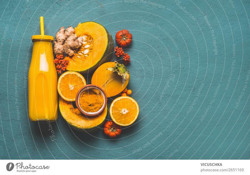 Energie Smoothie für kalte Jahreszeit Lebensmittel Gemüse Frucht Ernährung Bioprodukte Vegetarische Ernährung Diät Getränk Erfrischungsgetränk Heißgetränk Saft